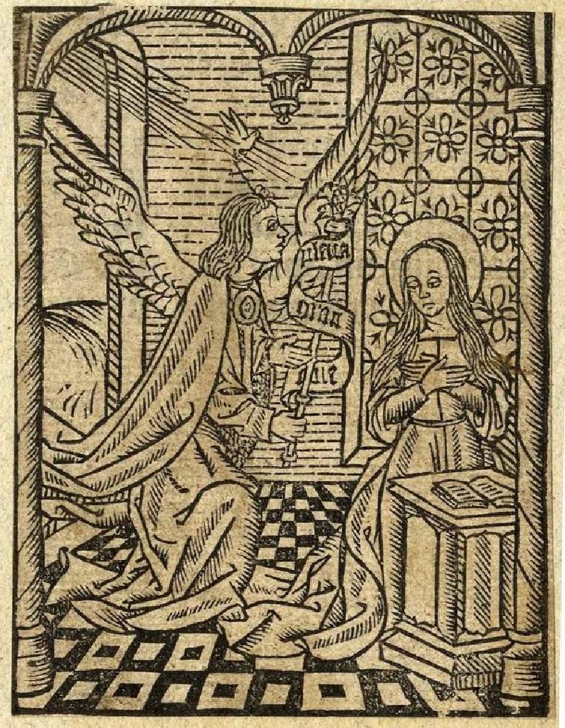 Recto: The Annunciation <br />Verso: The Annunciation