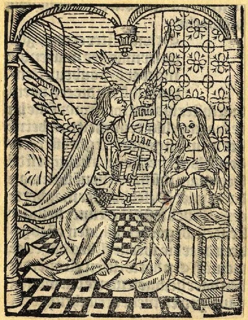 Recto: The Annunciation<br />Verso: The Annunciation