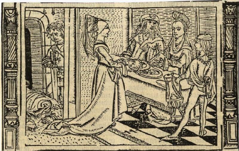 Salome presenting the head of St John the Baptist
