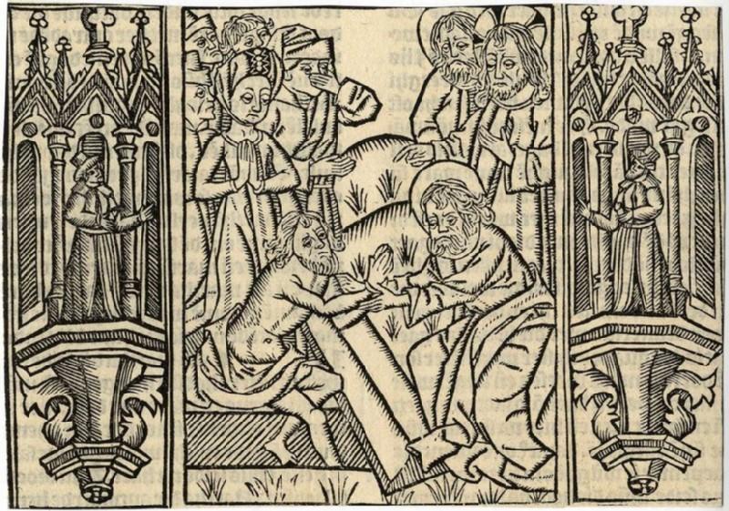 The Raising of Lazarus (WA2003.Douce.6157, record shot)