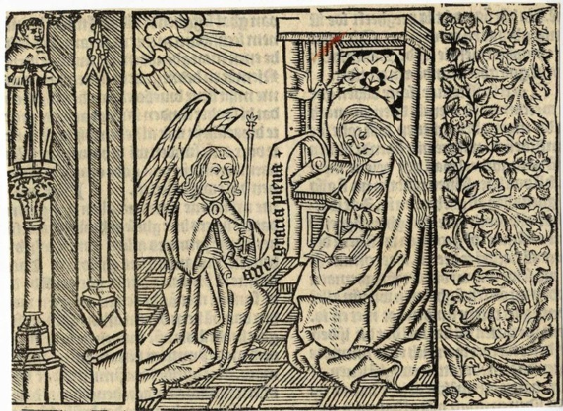 The Annunciation (WA2003.Douce.6382, record shot)