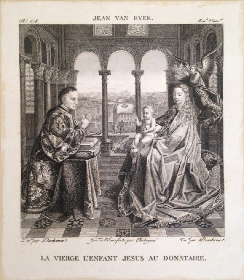 Plate 578: La Vierge l'enfant Jesus au donataire, from Vol. 9 of the 'Galerie du Musée Napoléon'