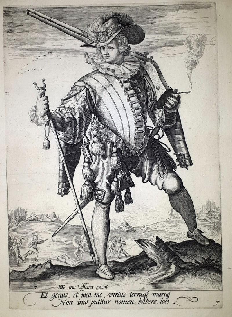 Soldier with arquebus (WA1863.8005, record shot)