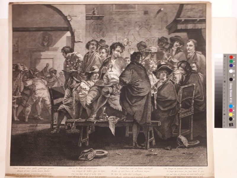 Initiation of a new member at the Schildersbent in Rome