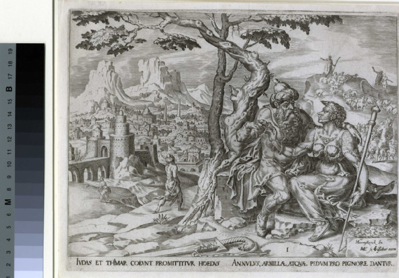 Judah giving Tamar the pledge (WA1863.8561, record shot)