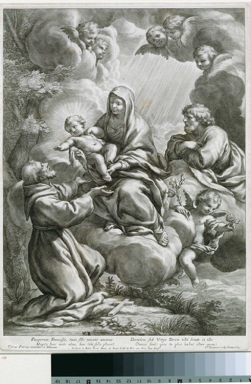 St Francis receiving the Child from the Virgin (WA1863.9227, record shot)