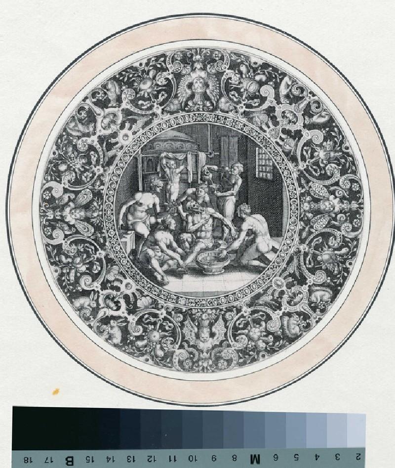 Sardanapalus at the bath (WA1863.9848, record shot)