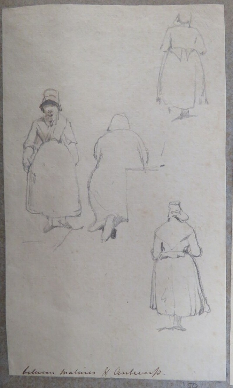 Sketches of women (WA1881.351.150, record shot)