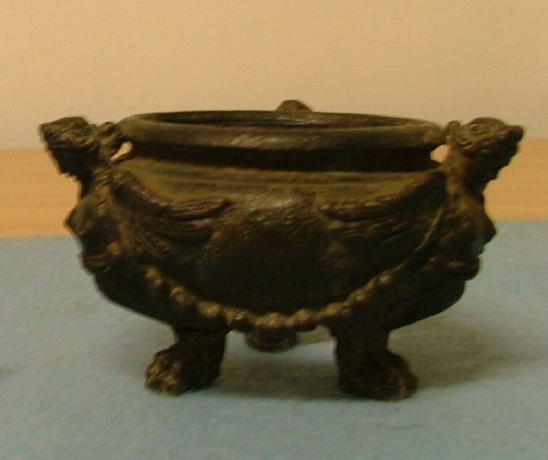 Inkwell (or basin) supported by three sphinxes (WA1899.CDEF.B1093, record shot)
