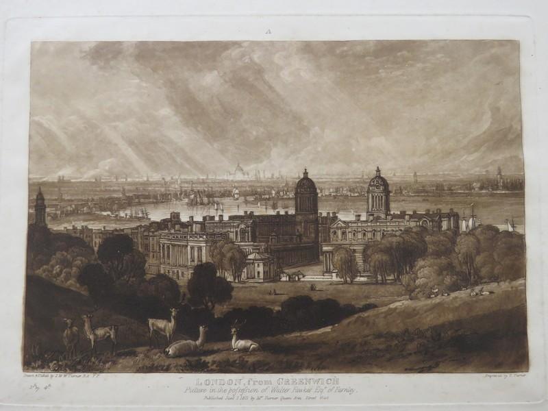 London from Greenwich (from the Liber Studiorum) (WA1900.17, record shot)