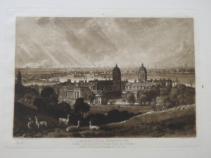 London from Greenwich (from the Liber Studiorum)