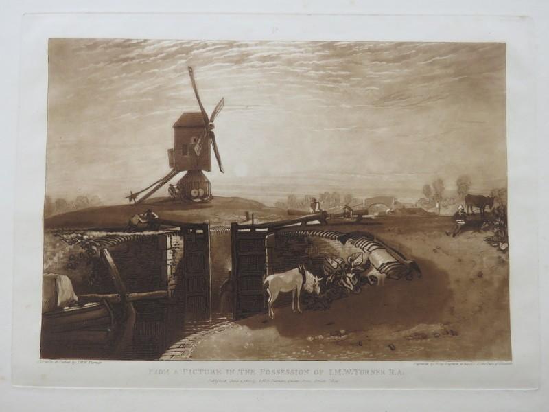 Windmill and Lock (from the Liber Studiorum) (WA1900.19, record shot)