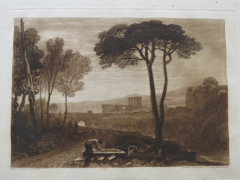 Scene in the Campagna (from the Liber Studiorum)