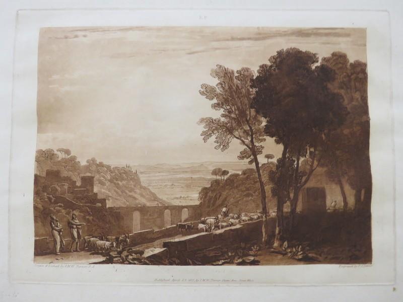 The Bridge and Goats (from the Liber Studiorum) (WA1901.12, record shot)