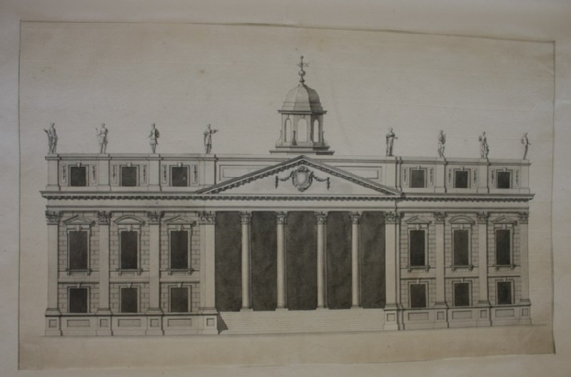 Design of the upright of a large building (WA1925.343.24, record shot)
