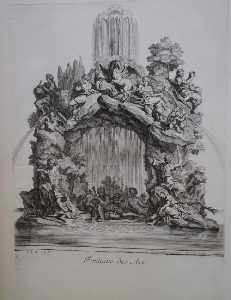 Design for a fountain showing the Muses of the arts, from the series 'Recueil de fontaines et de frises maritimes' (WA1925.344.12, record shot)