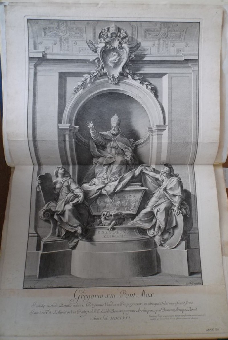 The tomb of Gregory XIII as erected in St Peter's, Rome (WA1925.345.1, record shot)