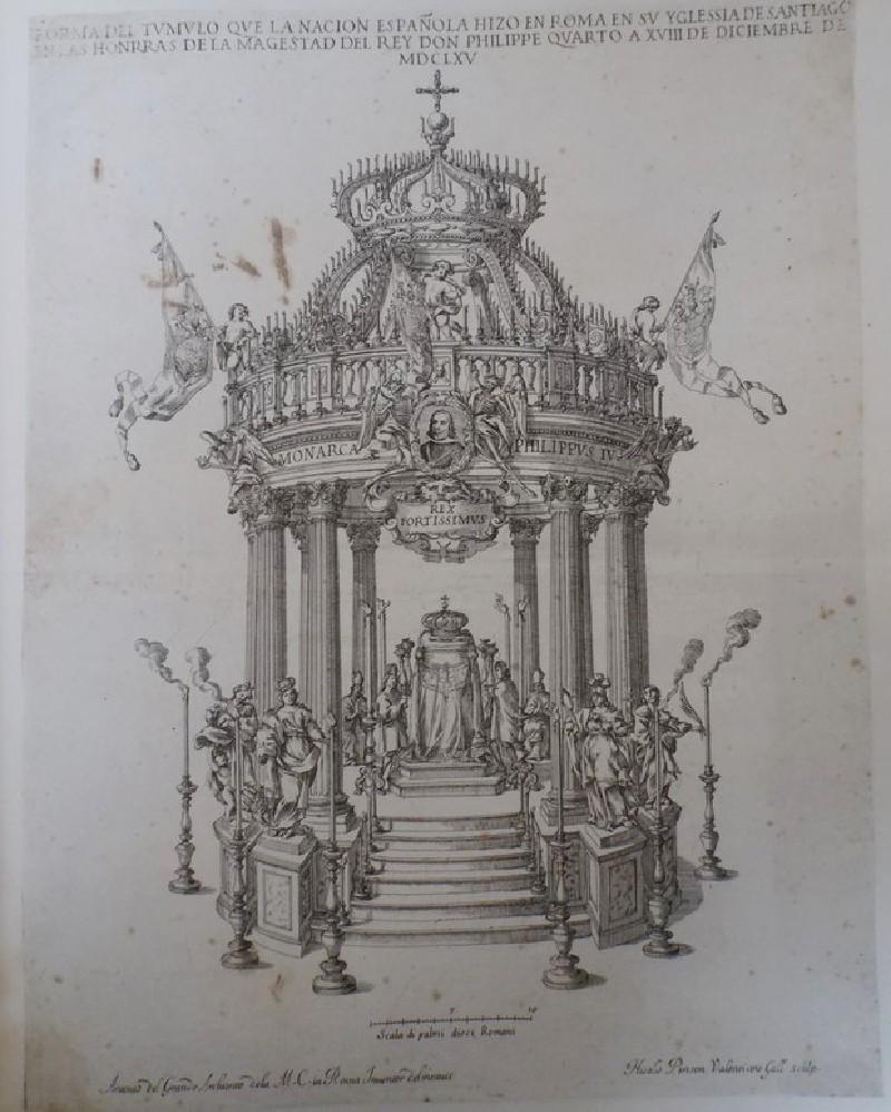 Catafalque erected in honour of Philip IV, King of Spain
