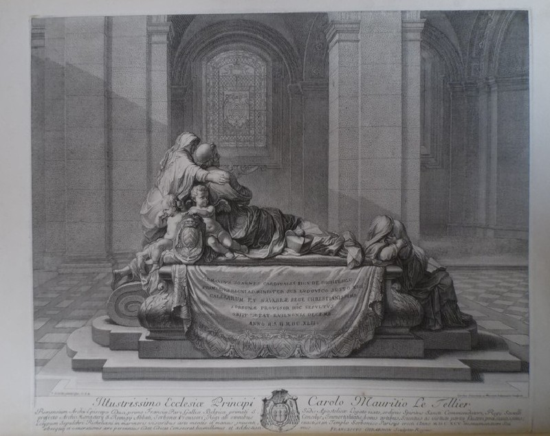 Interior of a church, with side view of Cardinal Richelieu's tomb (WA1925.345.3, record shot)