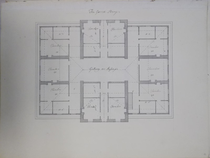 Design of the plan of 'The Garret Story' of 'Wiston House the seat of Sir. Robert Fagg Barronet'