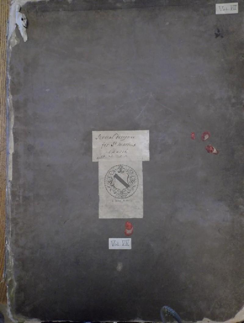 Gibbs portfolio of drawings for St Martin-in-the-Fields ('Volume VII')