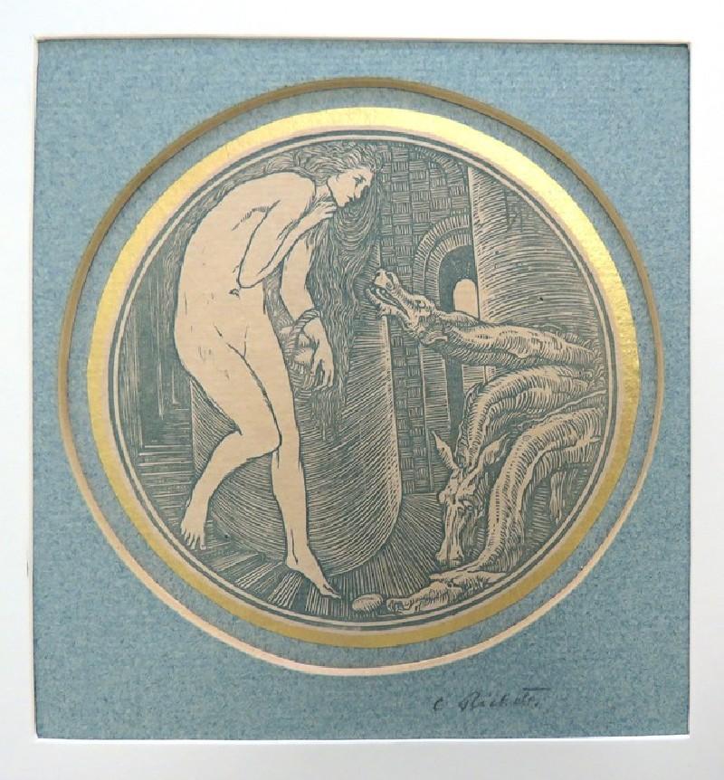 Psyche and Cerberus, or Psyche's Descent into Hell (WA1932.28, record shot)