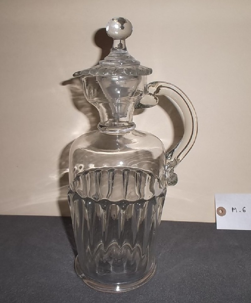 Gadrooned decanter jug and stopper