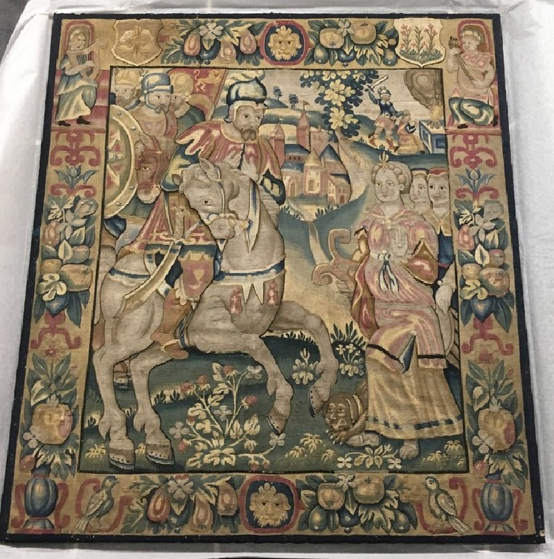 Tapestry panel: 'Jephthah and his Daughter' (WA1961.32.2, record shot)