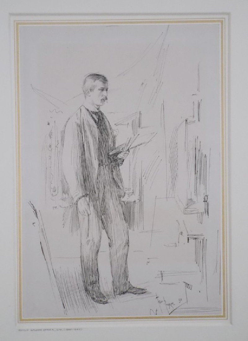 Portrait of Philip Wilson Steer working at his Easel (WA1964.68.3, record shot)