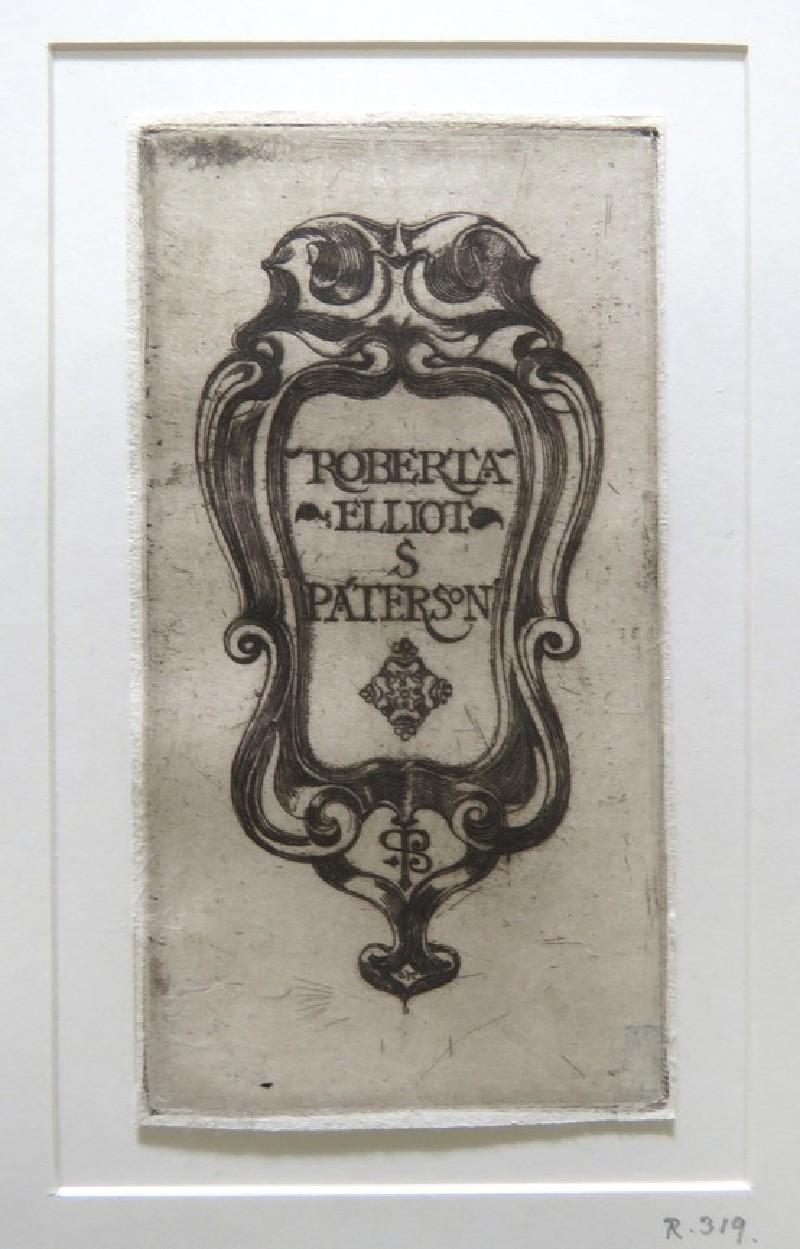 Book-plate of Roberta Elliot S. Paterson (WA1964.75.405, record shot)