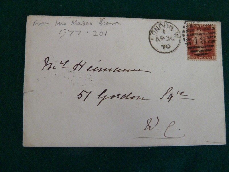 Invitation to Mrs Heimann 'Mrs Madox Brown at Home'