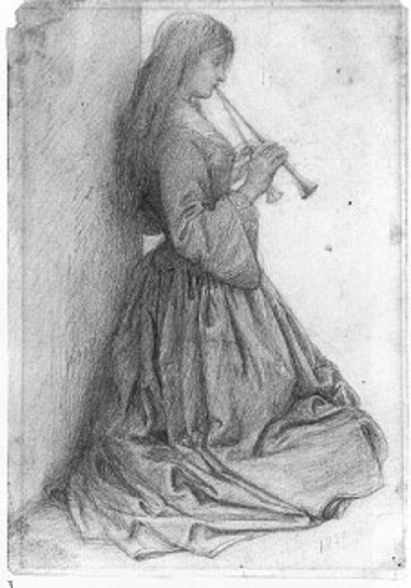 Elizabeth Siddal playing Double Pipes (WA1977.79, record shot)