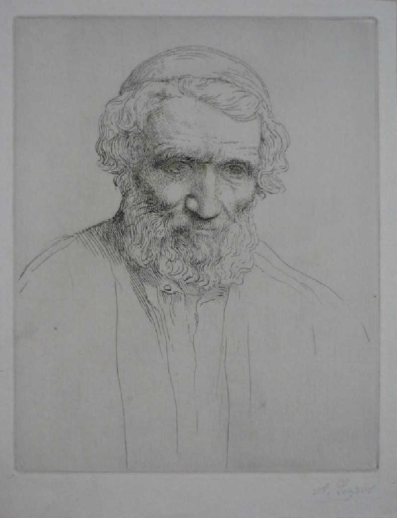 Portrait of an old man with a skull cap (WA1988.258, record shot)