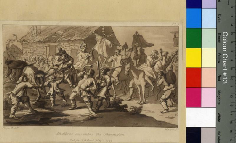 Hudibras encounters the Skimmington, copy (WA2003.Douce.32, record shot)