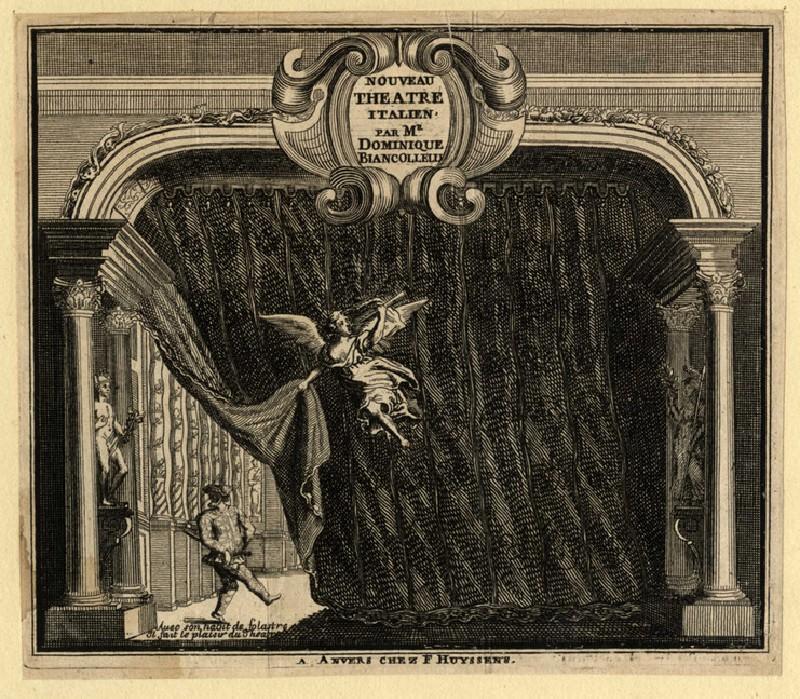 Title-page for 'Nouveau Theatre italien' (WA2003.Douce.493, record shot)