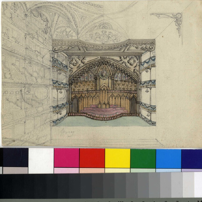 Design for a stage design (WA2003.Douce.525, record shot)