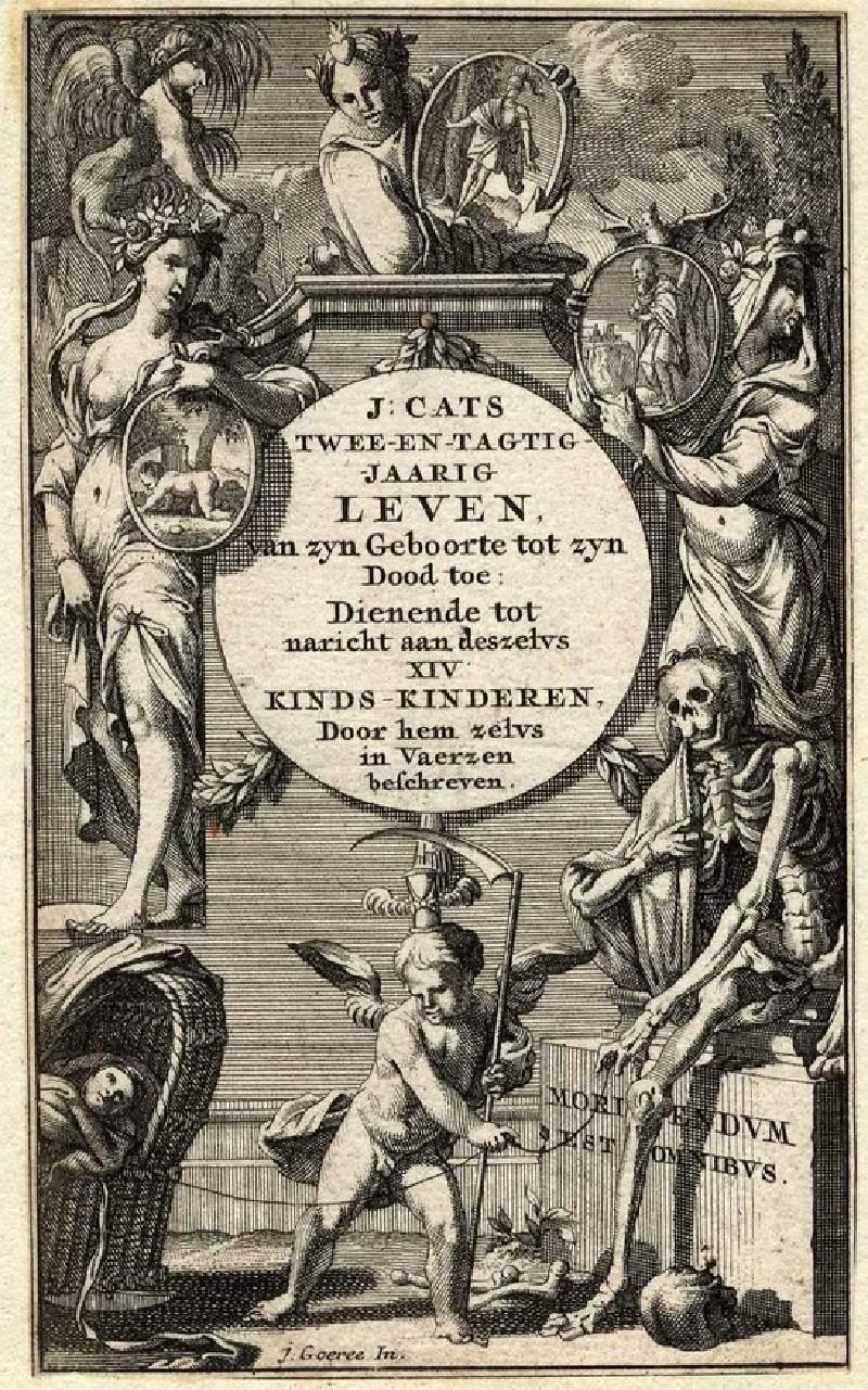 Title-page for 'Jacob Cats 'Twee-en-tagtig-jaarig leven'