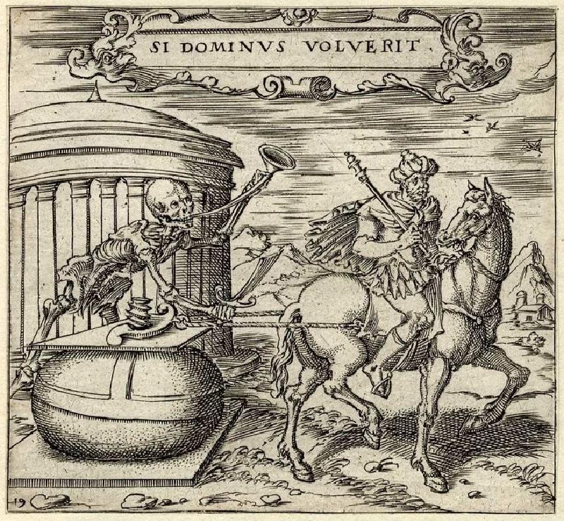 Emblem: Death and equestrian (WA2003.Douce.5404, record shot)