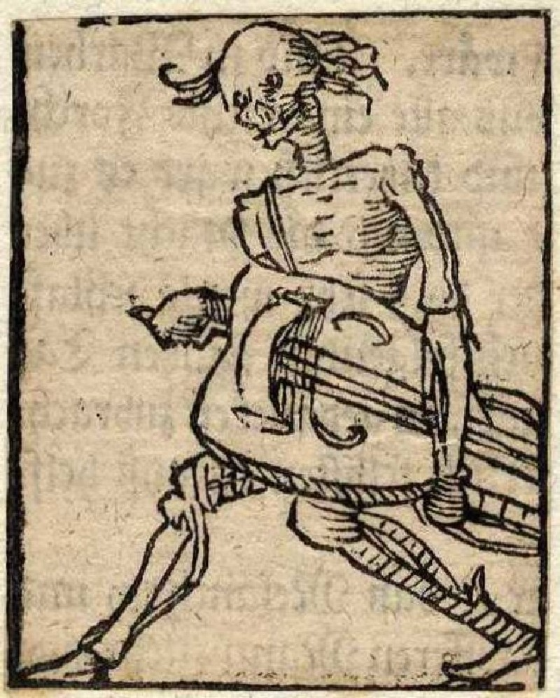 Death with a hurdy-gurdy (WA2003.Douce.5414, record shot)