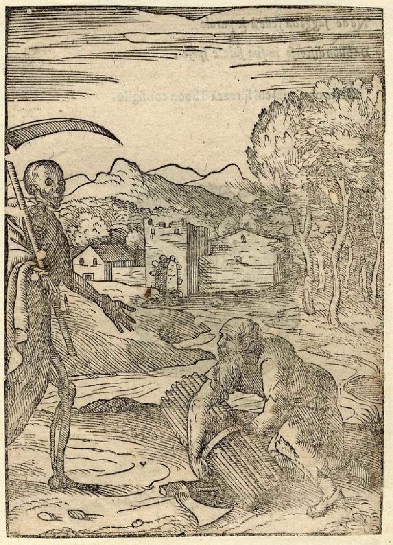 Death and a lumberjack (WA2003.Douce.5543, record shot)