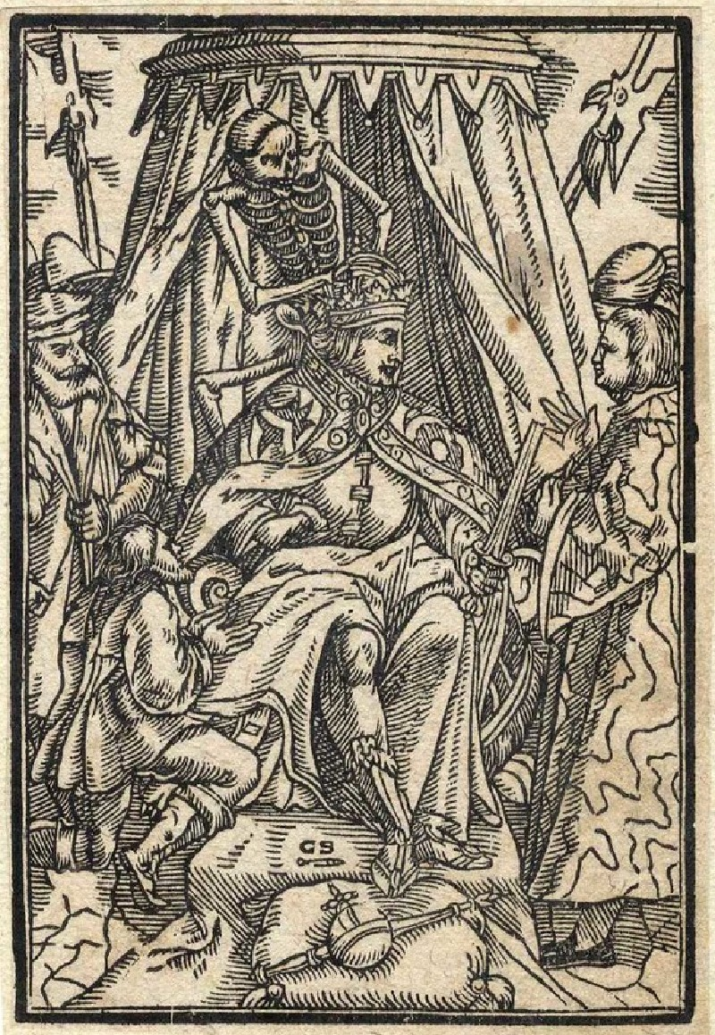 Dance of Death scene: Death and the king