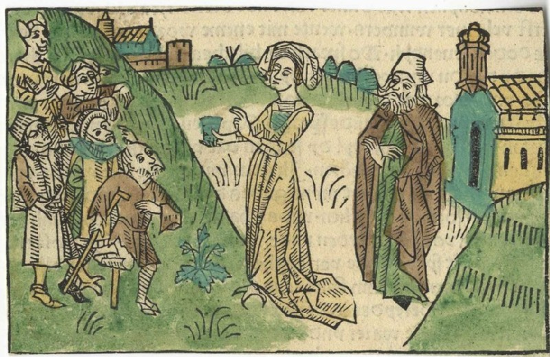 Devils in the Forms of a Queen, the Lame, and the Sick Trying to Trick Saint Anthony