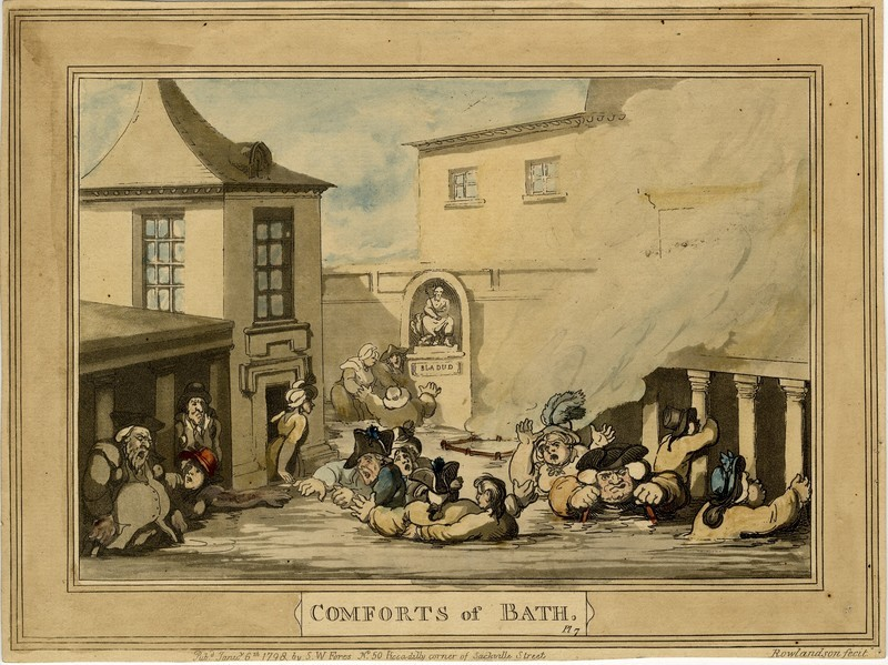 Comforts of Bath. Plate 7 (WA2003.Douce.2707, record shot)