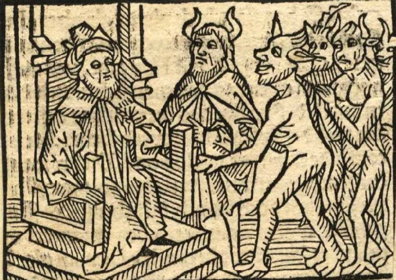 King Solomon Judging the Devil and Demons
