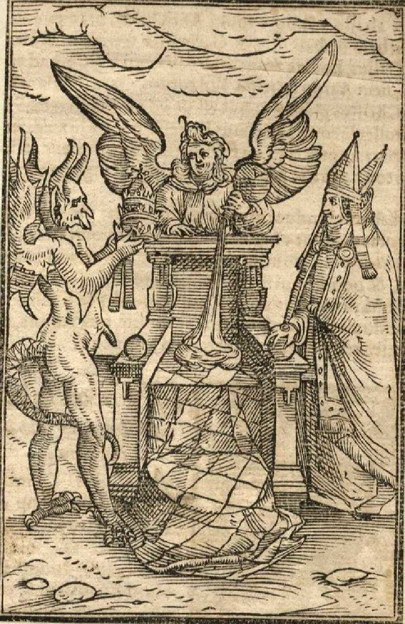 Devil, Angel and Pope