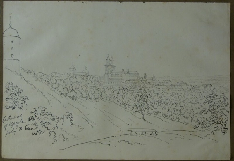 View of Uppsala Cathedral (WA2004.111.27, record shot)