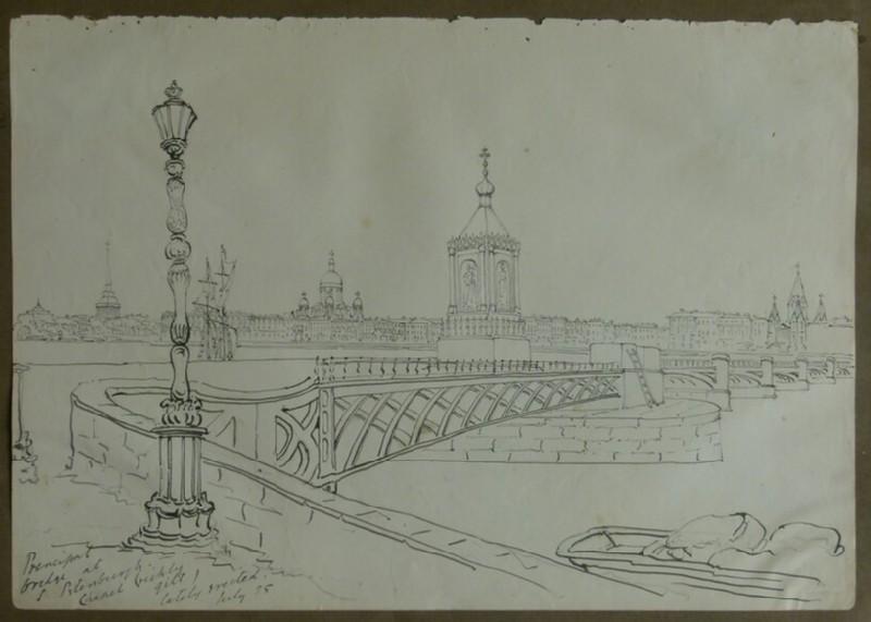 View of Bridge in St Petersburg (WA2004.111.30, record shot)