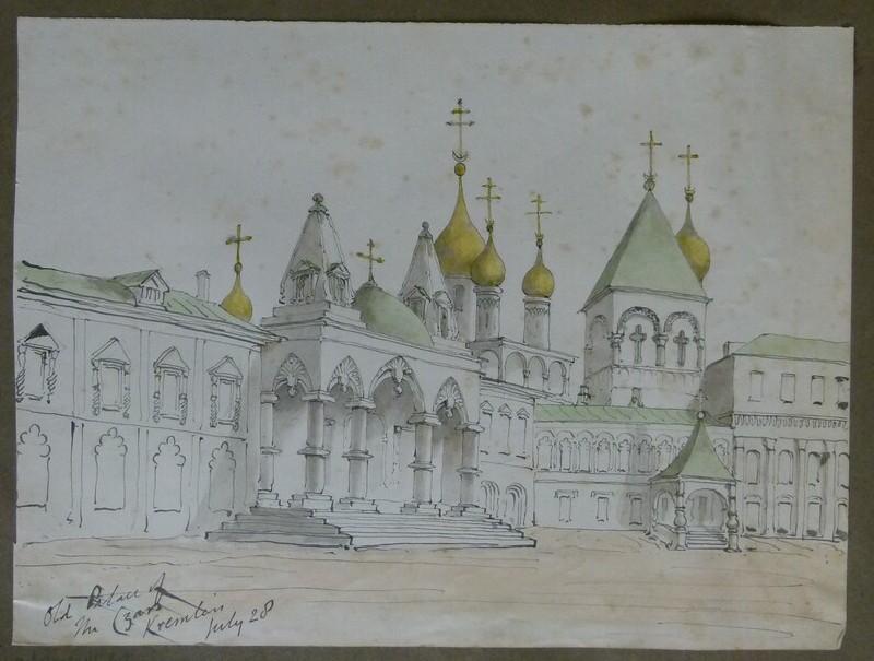 View of the Csar's Old Palace, Kremlin, Moscow (WA2004.111.41, record shot)