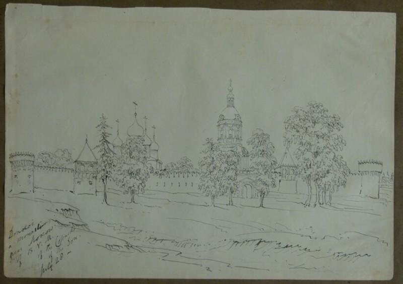 View of Donskoy Monastery, Russia (WA2004.111.50)