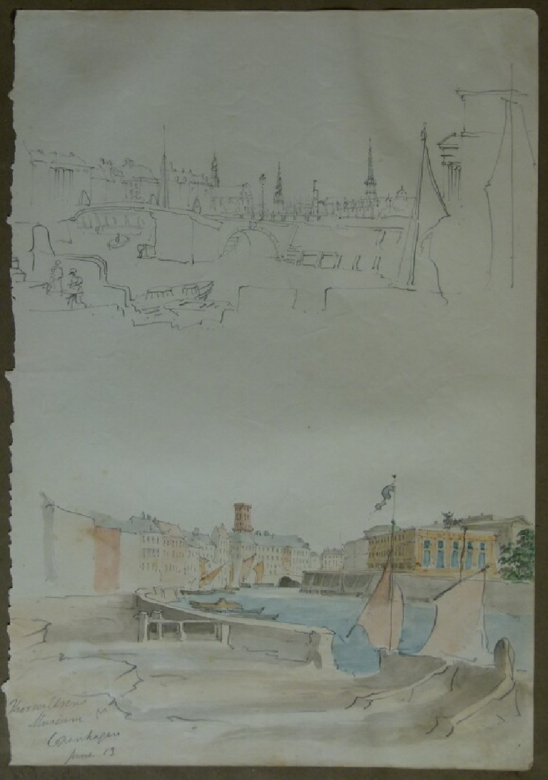 Two Views of Copenhagen, one with view of the Thorvaldsens Museum (WA2004.111.7, record shot)